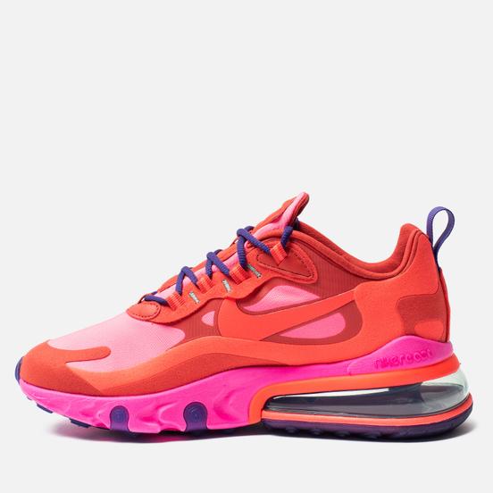 Женские кроссовки Nike Air Max 270 React Mystic Red/Bright Crimson/Pink Blast