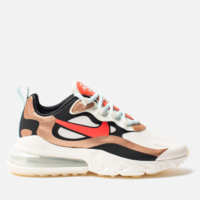 Женские кроссовки Nike Air Max 270 React Sail/Black/Metallic Red Bronze/Pure Platinum