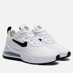 Женские кроссовки Nike Air Max 270 React White/Black/Metallic Silver