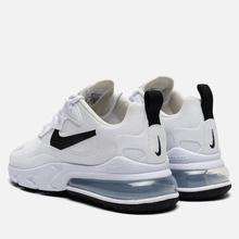 Женские кроссовки Nike Air Max 270 React White/Black/Metallic Silver фото- 2