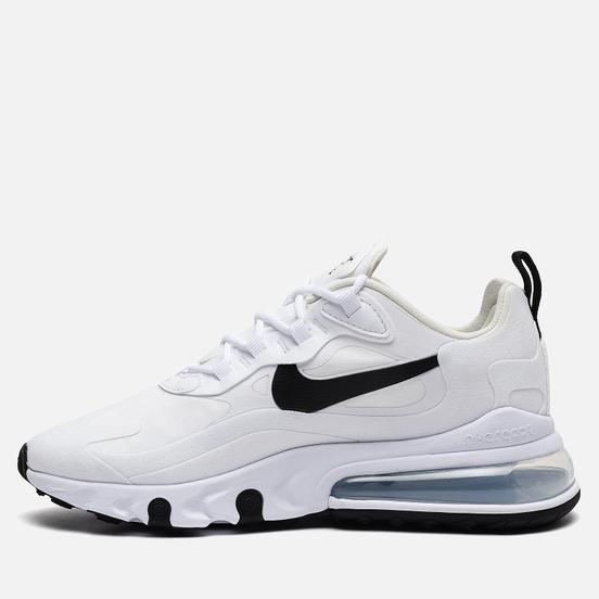 Женские кроссовки Nike Air Max 270 React White/Black/Metallic Silver
