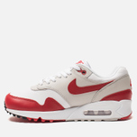 Женские кроссовки Nike Air Max 90/1 White/University Red/Neutral Grey/Black фото- 1