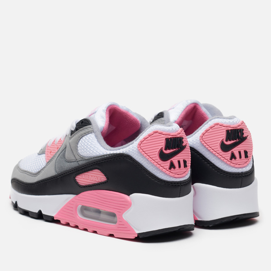 Женские кроссовки Nike Air Max 90 30th Anniversary White/Particle Grey/Rose/Black
