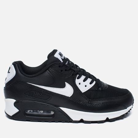 Nike Air Max 90 Essential Women's Sneakers Black/White/Metallic Silver