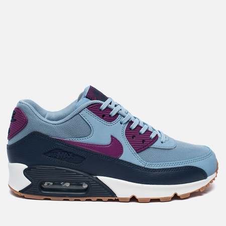 Женские кроссовки Nike Air Max 90 Essential Blue Grey/Bright Grape/Midnight Navy