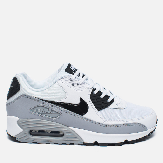 Женские кроссовки Nike Air Max 90 Essential White/Black/Wolf Grey