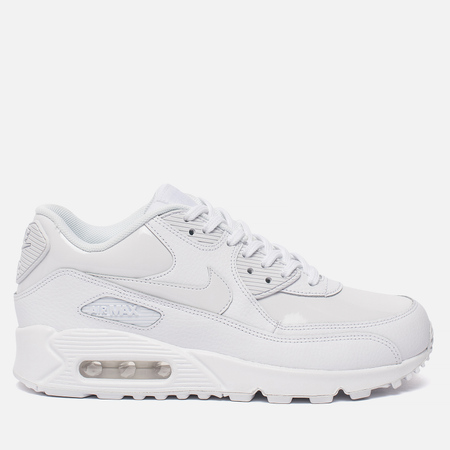 Женские кроссовки Nike Air Max 90 Leather White/White/White