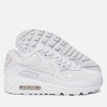 Женские кроссовки Nike Air Max 90 Leather White/White/White фото- 2