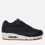 Женские кроссовки Nike Air Max 90 Premium Leather Black/Black/Dark Grey/Ivory фото- 0