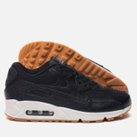 Женские кроссовки Nike Air Max 90 Premium Leather Black/Black/Dark Grey/Ivory фото- 1