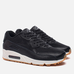 Женские кроссовки Nike Air Max 90 Premium Leather Black/Black/Dark Grey/Ivory фото- 2