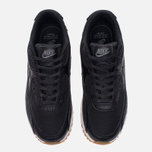 Женские кроссовки Nike Air Max 90 Premium Leather Black/Black/Dark Grey/Ivory фото- 4