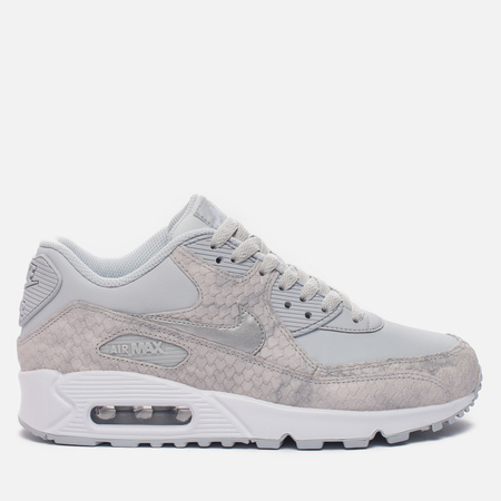 Женские кроссовки Nike Air Max 90 Pure Platinum/White/Metallic Silver