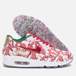 Nike Air Max 90 QS Gift Wrapped Pack Women's Sneakers White/University Red/Gold photo- 2