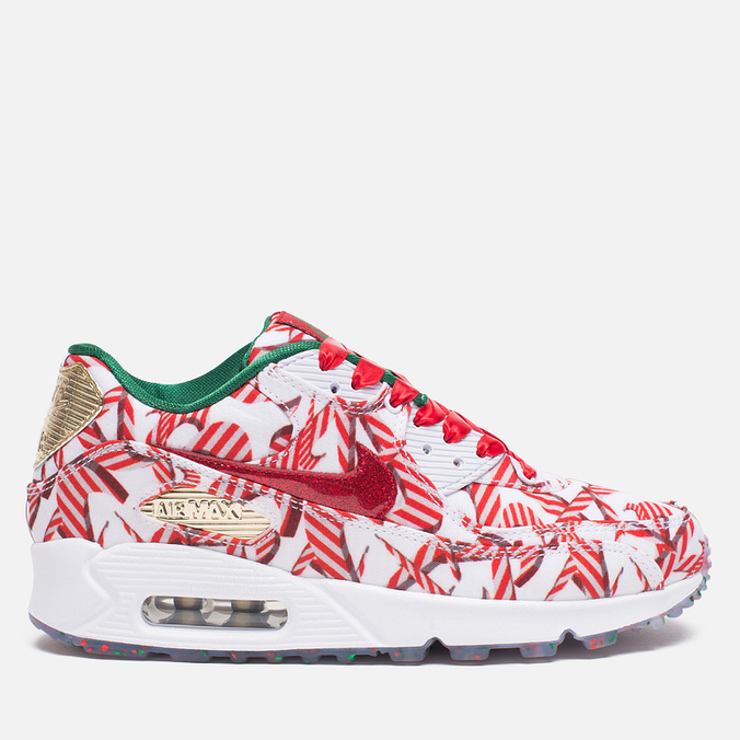 Женские кроссовки Nike Air Max 90 QS Gift Wrapped Pack White/University Red/Gold