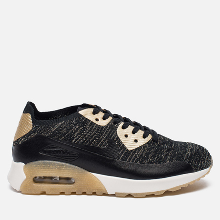 Женские кроссовки Nike Air Max 90 Ultra 2.0 Flyknit Metallic Black/Black