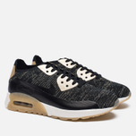 Женские кроссовки Nike Air Max 90 Ultra 2.0 Flyknit Metallic Black/Black фото- 1