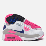 Женские кроссовки Nike Air Max 90 Ultra 2.0 Flyknit White/Concord/Laser Pink/Black фото- 1