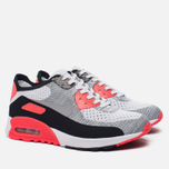 Женские кроссовки Nike Air Max 90 Ultra 2.0 Flyknit White/Wolf Grey/Bright Crimson фото- 2