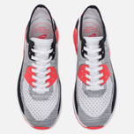 Женские кроссовки Nike Air Max 90 Ultra 2.0 Flyknit White/Wolf Grey/Bright Crimson фото- 4