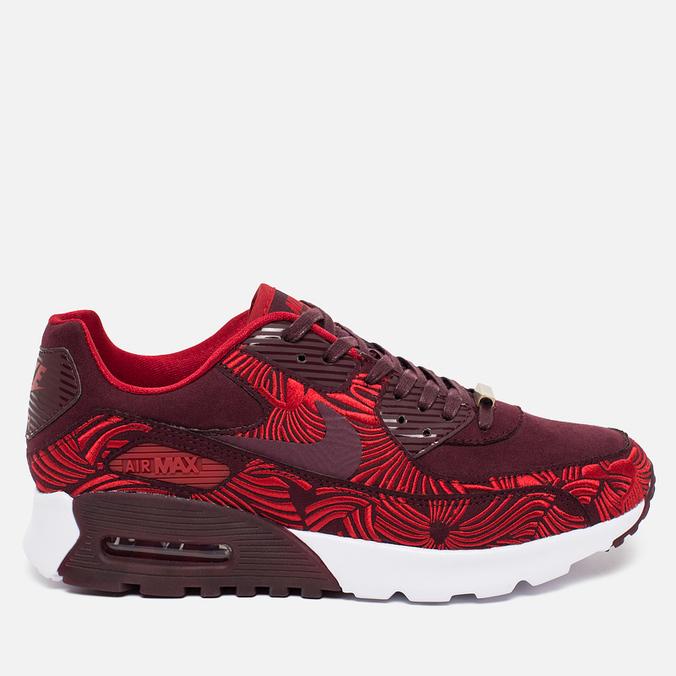 Женские кроссовки Nike Air Max 90 Ultra LOTC QS Shanghai Night Maroon/Gym Red