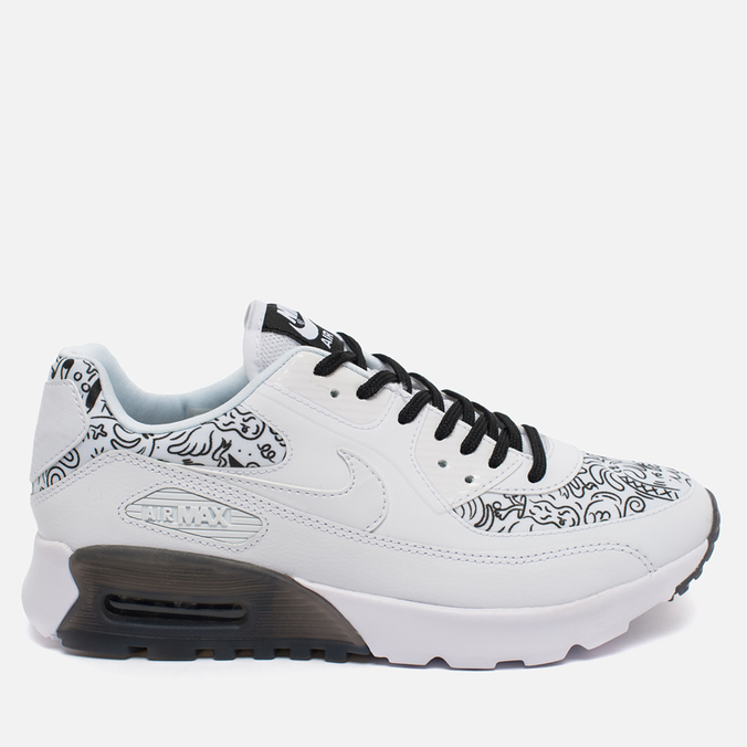 Женские кроссовки Nike Air Max 90 Ultra Print White/Black