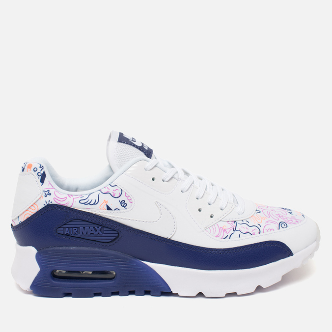 Женские кроссовки Nike Air Max 90 Ultra Print White/Dark Purple
