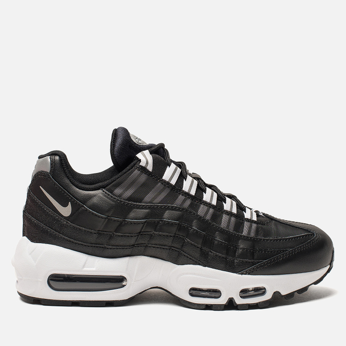 Женские кроссовки Nike Air Max 95 Black/Reflect Silver/Black/White