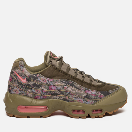 Женские кроссовки Nike Air Max 95 Floral Camo Neutral Olive/Arctic Punch