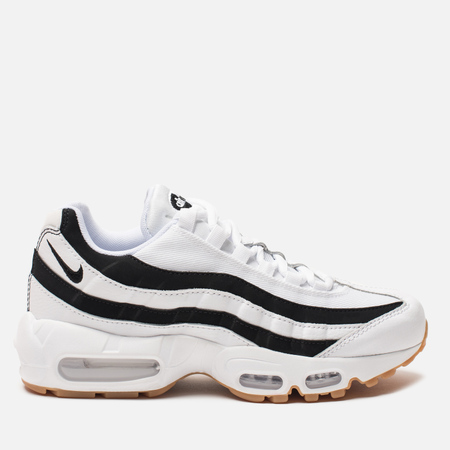 Женские кроссовки Nike Air Max 95 Juventus White/Black/Gum Light Brown