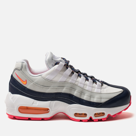 Женские кроссовки Nike Air Max 95 Midnight Navy/Laser Orange/Pure Platinum