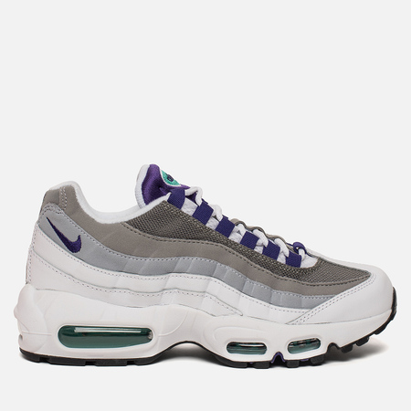 Женские кроссовки Nike Air Max 95 White/Emerald Green/Wolf Grey/Court Purple