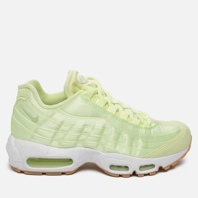 Женские кроссовки Nike Air Max 95 WQS Liquid Lime/White/Gum Light Brown