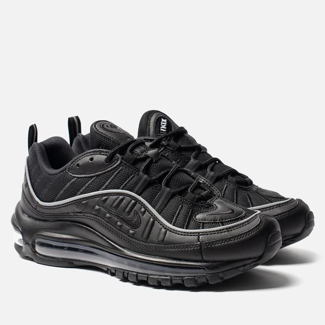 Женские кроссовки Nike Air Max 98 Black/Black/Off Noir