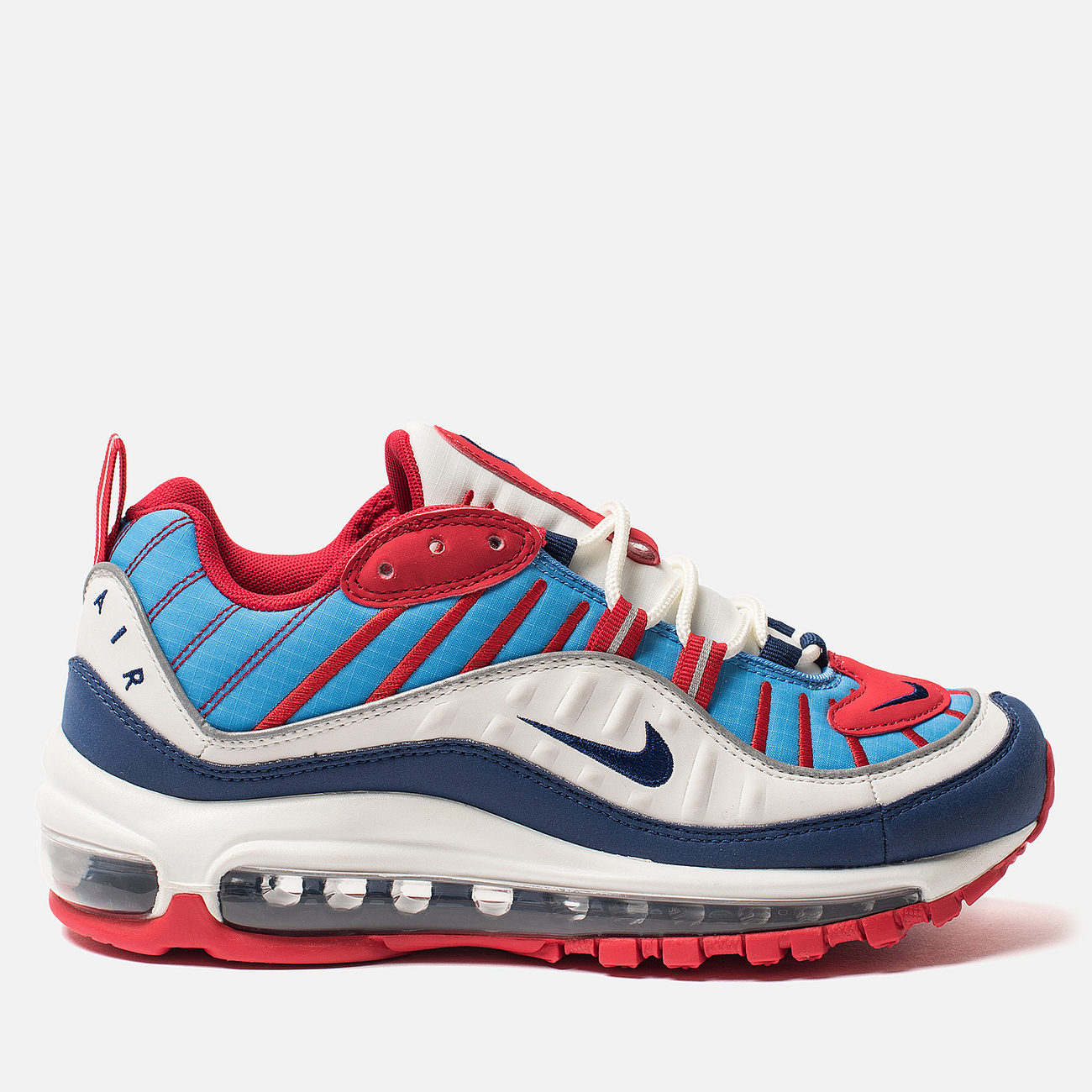 Женские кроссовки Nike Air Max 98 Summit White/Blue Void/University Red