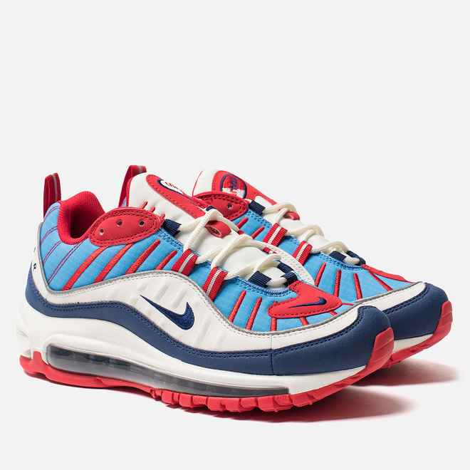 Женские кроссовки Nike Air Max 98 Summit White/Blue Void/University Red