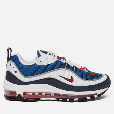 Женские кроссовки Nike Air Max 98 White/University Red/Obsidian