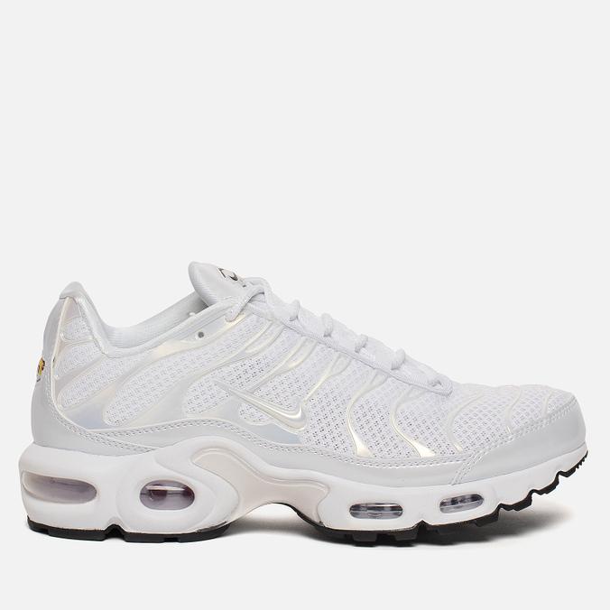 Женские кроссовки Nike Air Max Plus Premium White/White/White/Black