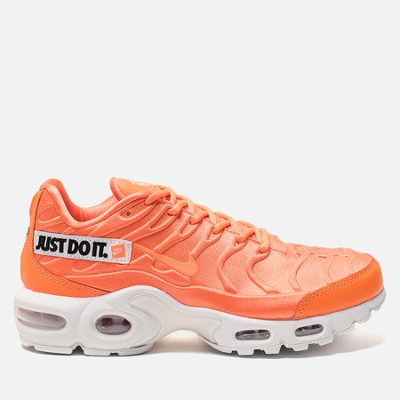 48128f8bf61d Женские кроссовки Nike Air Max Plus SE Just Do It Total Orange White Black
