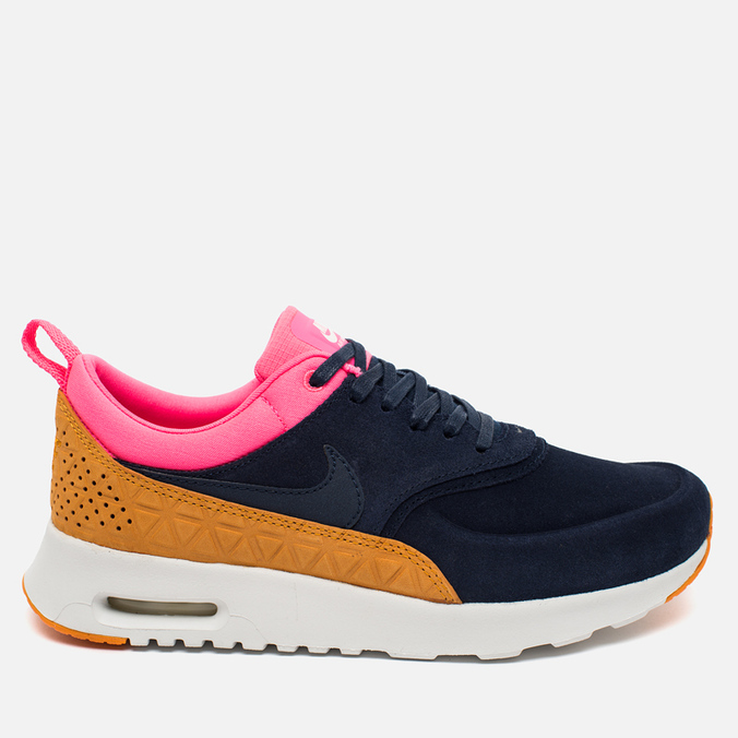 Женские кроссовки Nike Air Max Thea Leather Dark Blue/Orange/Pink/White