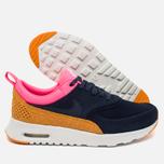 Nike Air Max Thea Leather Women's Sneakers Dark Blue/Orange/Pink/White photo- 2