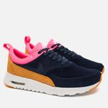 Nike Air Max Thea Leather Women's Sneakers Dark Blue/Orange/Pink/White photo- 1