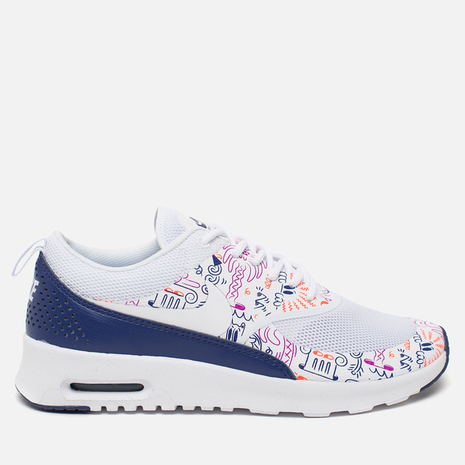 Женские кроссовки Nike Air Max Thea Print White/Dark Purple Dust/Hyper Violet