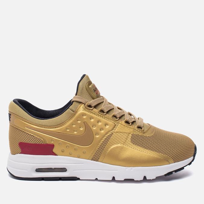 Женские кроссовки Nike Air Max Zero QS Metallic Gold/University Red/White