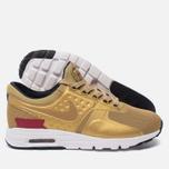 Женские кроссовки Nike Air Max Zero QS Metallic Gold/University Red/White фото- 1
