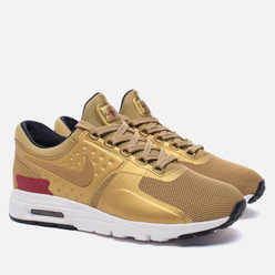 Женские кроссовки Nike Air Max Zero QS Metallic Gold/University Red/White