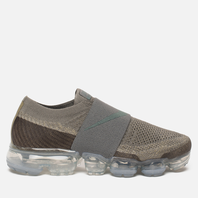 Женские кроссовки Nike Air Vapormax Flyknit Moc Dark Stucco/Neutral Olive/Light Bone/Clay Green
