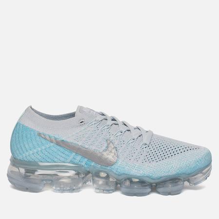 Женские кроссовки Nike Air Vapormax Flyknit Pure Platinum/Metallic Silver/Light Blue