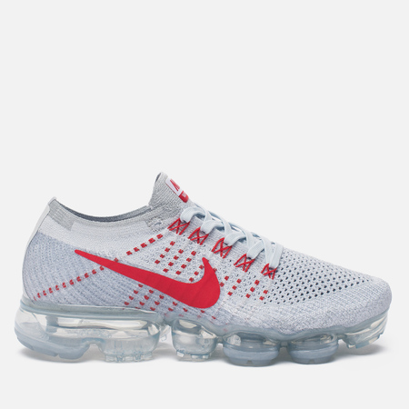 Женские кроссовки Nike Air Vapormax Flyknit Pure Platinum/University Red/Wolf Grey