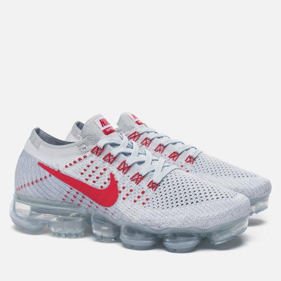 Женские кроссовки Nike Air Vapormax Flyknit Pure Platinum/University Red/Wolf Grey